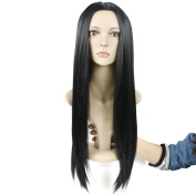 Secretgirl Black Wig Women Long Straight Hair Cosplay Costume Wig Middle Part