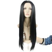 Secretgirl Black Wig Women Long Straight Hair Cosplay Costume Wig Middle Part