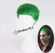 TLT Cosplay Wig Short Anime Show Party Costume Hair Wig Green Wigs BU106