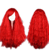 ATOZHair New Arrival Halloween Cosply Party Show Long Curly Fluffy Red Synthetic Wig 70cm