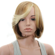 DDLBiz Women Soft Natural Medium Straight Bob Hair Full Lace Wigs Lace front wig