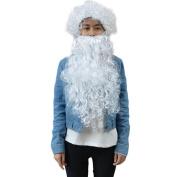 DDLBiz Santa Beard And Wig Set Christmas Santa Claus Costume Cosplay Wig