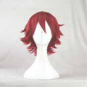 ELSWORD Elsword Red 35cm Short Cosplay Wig + Free Wig Cap