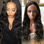 Premier Crown Hair Virgin Brazilian Human Hair Wigs 150% Density Body Wave Glueless 10cm Part Lace Front Wig for Black Women with Bleached Knot Natural Colour