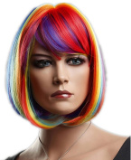 ATOZHair Colourful Short Straight Bob Rainbow Women Wigs High Temperature Fibre Synthetic Omber Wig