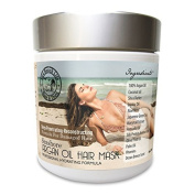 "Argan & Coconut Oil Hair Mask. A Deep Hydrating Treatment to Seal the Cuticle Layer of Hair, Locking in the Conditioner, leaving Hair Soft & Silky (No Comb Included, Only Bag) By:""LUV BEACH LIFE"" 240ml"