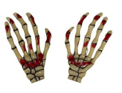 GEOOT 1 Pair Trendy Women Skeleton Hand Bone Claw Punk Hair Clip
