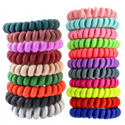 Fashion & Lifestyle Hair Ties Ponytail Holders - Large Boutique Girls Stretchy Elastic Hair Ropes Bands Styling Accessories for Women and Ladies Pack of 20, Assorted Random Colour