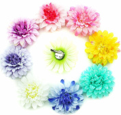 10cm Big Lot Hair Flowers Clip and Pin Silk Peony Flower Camellia Alligator Hair Clip Bridal Wedding Girls Sisters-2 way use with pin
