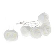 Imixlot Set of 6pcs Mini Rose Flowers Hair Pins Wedding Bridal Accessories