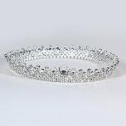 VKFashion Wedding Crown,Braidal Tiara, Vintage Rhinestone Headpiece Hair Accessories, Style D09