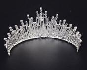 VKFashion Bridal Royalty Tiara, Crystal Wedding Crown, Wedding Hair Accessories Headband, Style C01