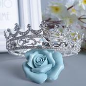VKFashion Wedding Crown,Braidal Tiara, Vintage Rhinestone Headpiece Hair Accessories, Style D02