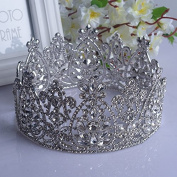 VKFashion Wedding Crown,Braidal Tiara, Vintage Rhinestone Headpiece Hair Accessories, Style D03