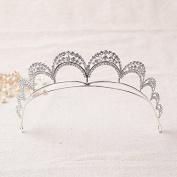 VKFashion Bridal Tiara Wedding Crown, Hair Accessories Rhinestone Crown Wedding Pageant, Style C06