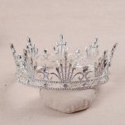 VKFashion Wedding Crown,Braidal Tiara, Vintage Rhinestone Headpiece Hair Accessories, Style D11