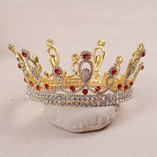 VKFashion Wedding Crown,Braidal Tiara, Vintage Rhinestone Headpiece Hair Accessories, Style D10