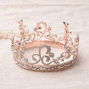 VKFashion Wedding Crown,Braidal Tiara, Vintage Rhinestone Headpiece Hair Accessories, Style D06