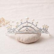 VKFashion Bridal Tiara Wedding Crown, Hair Accessories Rhinestone Crown Wedding Pageant, Style C07