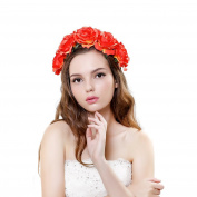 Ever Fairy Rose Floral Garland Hairband Flower Wreath Wedding Crown Headband