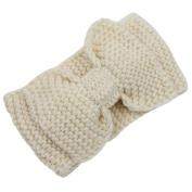 Gilroy Womens Bowknot Crochet Knitted Headband Winter Warm Head Wrap Hairband