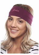 Sporty Style Custom Embroidered Knit Headband, Burgundy