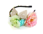 Merroyal Large Flower Plastic Hard Headband-Elegant Styles for Wedding Festivals