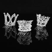 FUMUD Kids Flower Girl Baby Full Crystal Rhinestone Circle Round Mini Tiara Crown