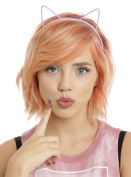 Pastel Plastic Cat Ear Headband Set
