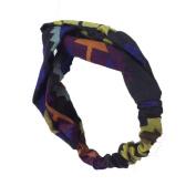 Efivs Arts Vintage Crossed Striped Elastic fashionable headband