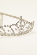 Flower Girl Dangle Cross Tiara Style 64042, Silver