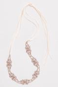 Crystal Cluster Pave Leaf Headband Style H9145, Rose Gold