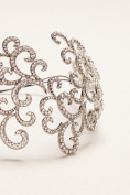 Pave Scrollwork Headband Style H9106, Silver