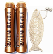 Brazilian Blowout Procare Acai Anti-Frizz Duo Shampoo & Conditioner 350ml bottles with FREE Natural Loofah