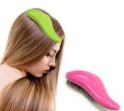 POP-Zone Deluxe Detangling Hair Brush Detangler Comb for Dry or Wet Hair