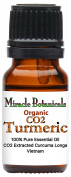 Miracle Botanicals Organic CO2 Extracted Turmeric Essential Oil - 100% Pure Curcuma Longa - Therapeutic Grade - 10ml