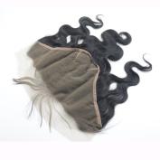 Moresoo 100% Brazilian Virgin Human Hair Body Wave Ear to Ear Lace Frontal Closure 13x 6 Bleach Knots with Baby Hair Natural Colour 30cm