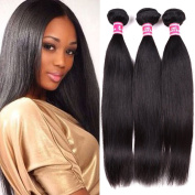 Belinda Hair Unprocessed Virgin Brazilian Straight Hair 3 Bundles 7A Brazilian Weave 100% Human Hair Extensions Natural Black Colour