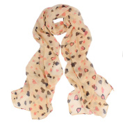 Datework Womens Love Heart Soft Long Shawl Scarf