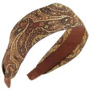 L. Erickson USA Ribbon Headband - Winter Swirl Chocolate