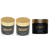 Bundle - 3 Items : GO247 Styling Cream, 60ml & GO247 Real Men Texture Paste, 60ml & GO247 Cream Wax, 60ml