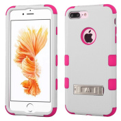 MyBat Cell Phone Case for Apple Iphone 7 Plus - Natural Cream White/Hot Pink