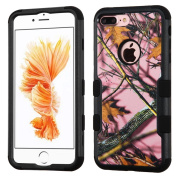MyBat Cell Phone Case for Apple IPhone 7 Plus - Pink Oak-Hunting Camouflage Collection/Black