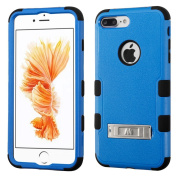 MyBat TUFF Hybrid Protector Cover with Stand for iPhone 7 Plus - Natural Dark Blue/Black