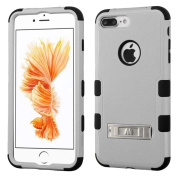 MyBat TUFF Hybrid Protector Cover with Stand for iPhone 7 Plus - Natural Grey/Black