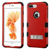 MyBat TUFF Hybrid Protector Cover with Stand for iPhone 7 Plus - Natural Red/Black