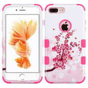 MyBat Cell Phone Case for Apple Iphone 7 Plus - Spring Flowers/Electric Pink