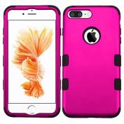 MyBat TUFF Hybrid Protector Cover for iPhone 7 Plus - Titanium Solid Hot Pink/Black