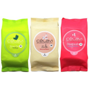 Korean Cosmetic Celavi Makeup Remover Wipes Cleansing Towelettes 3 Packs- 90 Sheets