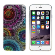 Orangesky for Iphone 6 12cm ,Colourful Totem Flower TPU Silicone Case Cover